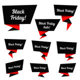 Black Friday Sale vector elements Royalty Free Stock Photography