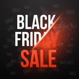 Black Friday Sale Vector Exlosion Poster Template. Huge November Royalty Free Stock Images