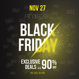 Black Friday Sale Vector Exlosion Poster Template. Stock Image