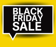 Black Friday Sale vector label Stock Images