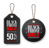 Black friday sale vector price tags for discount promotions Royalty Free Stock Photography