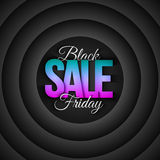 Black Friday Sale Vector Retro Background. Black Friday Sale vector background in retro and vintage style. 3d illustration for business, marketing, promotion and Stock Images