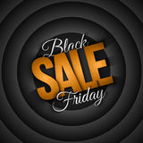 Black Friday Sale Vector Retro Background. Black Friday Sale vector background in retro and vintage style. 3d illustration for business, marketing, promotion and Stock Photo