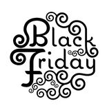 Black Friday Sale vector text Vintage Calligraphy Lettering illu Stock Images