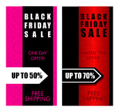 Black friday sale vertical banner Royalty Free Stock Photo