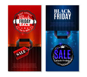 Black Friday Sale Vertical Banners Stock Image