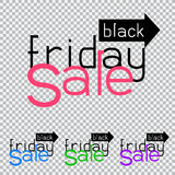 Black friday sale way direction Stock Photography