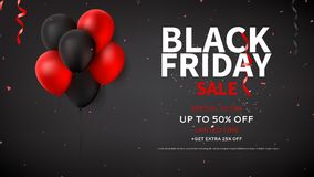 Black Friday sale web banner template Stock Photography