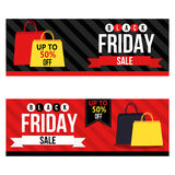 Black Friday sale web banners and headers Royalty Free Stock Photos