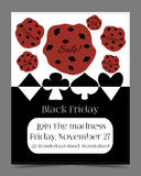 Black Friday Sale in Wonderland Banner, Card. Brochure - Cookie. Printable Vector Illustration for Graphic Projects, Parties and the Internet Stock Photo