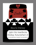 Black Friday Sale in Wonderland Banner, Card, Brochure - Jewelry. Box. Printable Vector Illustration for Graphic Projects, Parties and the Internet Royalty Free Stock Photography