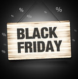 Black Friday Sale Wood Sign Royalty Free Stock Image