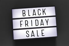Black friday sale word on lightbox stock photo