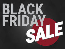 Black friday sale,wording on black background Stock Photography