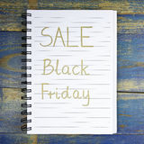 Black Friday Sale written in notebook Royalty Free Stock Image