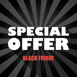 Black friday sales banner template with special Stock Photography