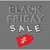 Black Friday sales 3d  template. Royalty Free Stock Photos