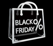 Black Friday sales digital icons 3D rendering Stock Image