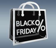 Black Friday sales digital icons 3D rendering Stock Photos