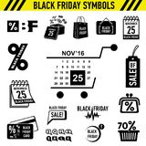 Black Friday Sales icons set, simple style. Black Friday Sales icons set. Simple illustration of 16 Black Friday Sales icons for web vector illustration
