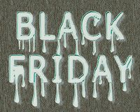 Black Friday. Sales. Inscription of spreading paint. The inscription of white letters in the form of spreading paint on a brown canvas. File EPS attached vector illustration
