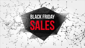 Black Friday Sales Motion Banner with Dots and Lines stock video footage