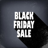 Black friday sales poster in vintage style with royalty free illustration