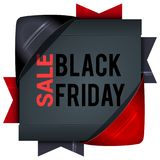 Black Friday sales, square banners with colored ribbons. Gifts f. Or Christmas and New Year. For ads, promotions vector illustration