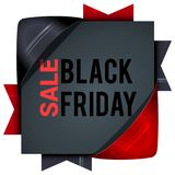 Black Friday sales, square banners with colored ribbons. Gifts f. Or Christmas and New Year. For posters, icons, promotions vector illustration