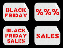 Black Friday Sales stickers set Stock Photo