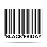 Black Friday sales tag in barcode style Royalty Free Stock Photography