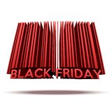 Black Friday sales tag in barcode style. Stock Photo