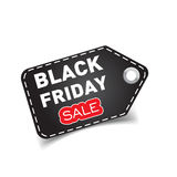 Black friday sales tag. Discount sticker vector illustration. Clothes, food, electronics, cars sale Stock Image