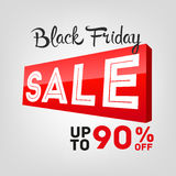 Black Friday sales tag Stock Photography