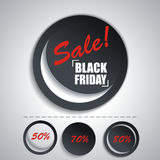 Black Friday sales tag. Set SALE stickers for your design Royalty Free Stock Photos