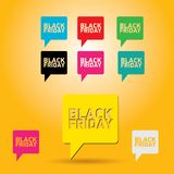 Black Friday sales tag. vector illustration Royalty Free Stock Photography