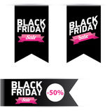 Black Friday sales tag. vector illustration Stock Photo