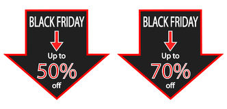 Black Friday Savings Ads Royalty Free Stock Photos
