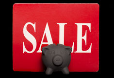 Black friday savings piggy bank sale Stock Photography