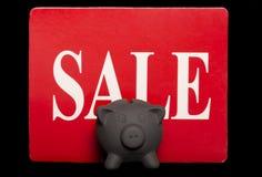 Black friday savings piggy bank sale Stock Photography
