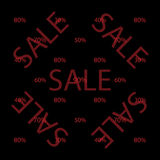 Black Friday seamless pattern of discount percent sale Royalty Free Stock Images