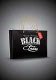 Black Friday. Shop bag on gray background. Vector Royalty Free Stock Photography