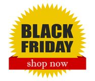 Black Friday! Shop Now. Great Deals. Special Offers. Vector Flat Design. Stock Photo