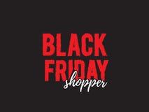 Black friday shopper Royalty Free Stock Images