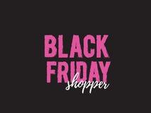 Black friday shopper Royalty Free Stock Photo