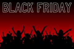 black friday shopping royaltyfri illustrationer