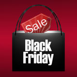 Black Friday Shopping Bag Royalty Free Stock Image