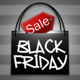 Black Friday Shopping Bag Royalty Free Stock Images