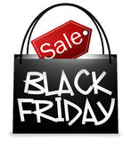 Black Friday Shopping Bag Stock Photo