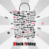 Black Friday shopping bag Royalty Free Stock Photography